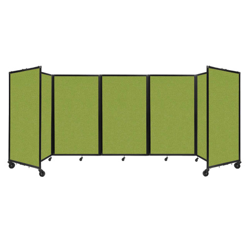 """Room Divider 360 Folding Portable Partition 14"""" x 5' Lime Green Fabric"""