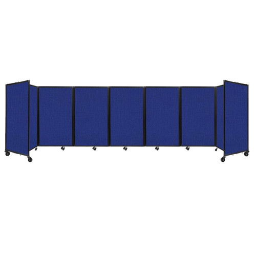 """Room Divider 360 Folding Portable Partition 19'6"""" x 5' Royal Blue Fabric"""