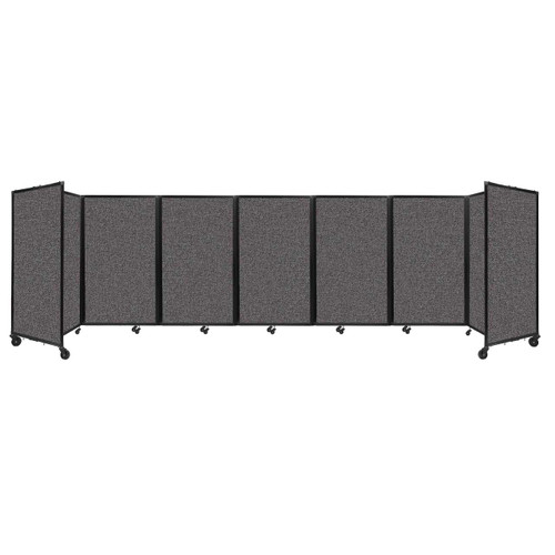 """Room Divider 360 Folding Portable Partition 19'6"""" x 5' Charcoal Gray Fabric"""