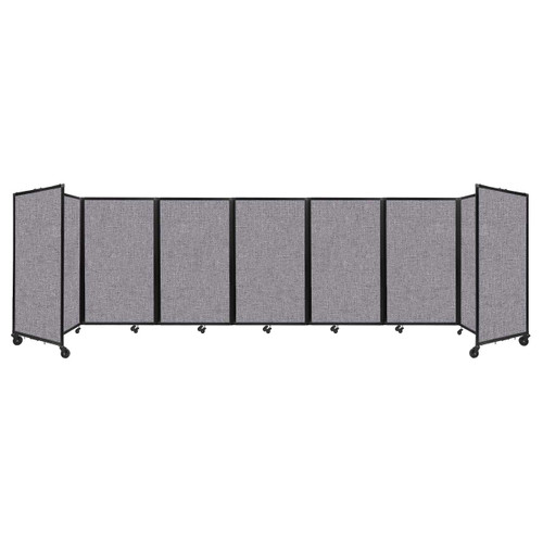 """Room Divider 360 Folding Portable Partition 19'6"""" x 5' Cloud Gray Fabric"""