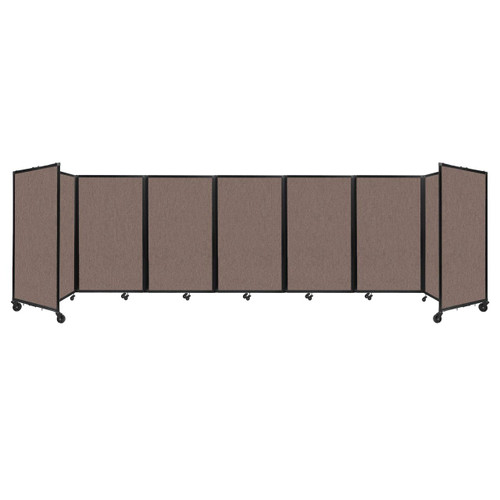 """Room Divider 360 Folding Portable Partition 19'6"""" x 5' Latte Fabric"""