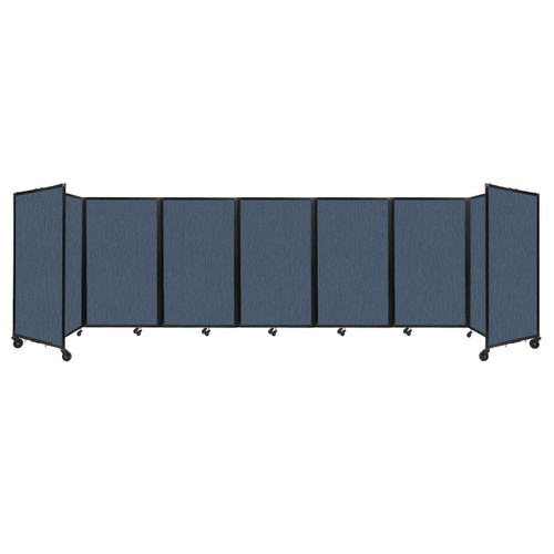 """Room Divider 360 Folding Portable Partition 19'6"""" x 5' Ocean Fabric"""