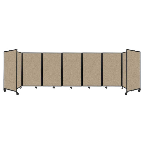 """Room Divider 360 Folding Portable Partition 19'6"""" x 5' Rye Fabric"""