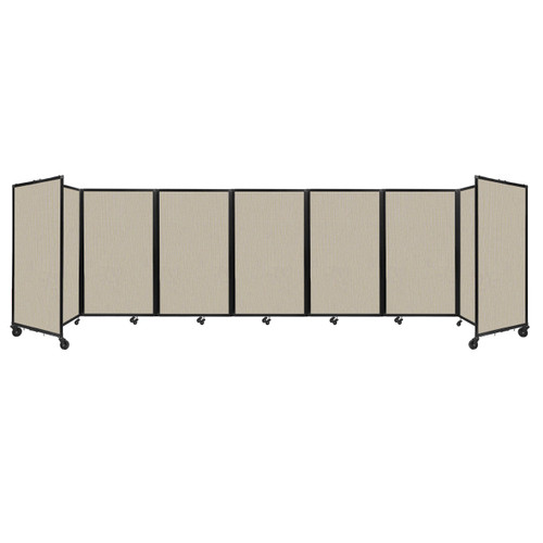 """Room Divider 360 Folding Portable Partition 19'6"""" x 5' Sand Fabric"""