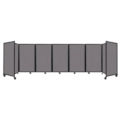 """Room Divider 360 Folding Portable Partition 19'6"""" x 5' Slate Fabric"""