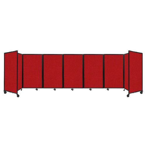 """Room Divider 360 Folding Portable Partition 19'6"""" x 5' Red Fabric"""