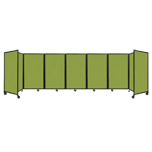 """Room Divider 360 Folding Portable Partition 19'6"""" x 5' Lime Green Fabric"""