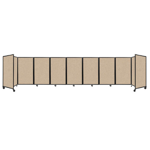 Room Divider 360 Folding Portable Partition 25' x 5' Beige Fabric