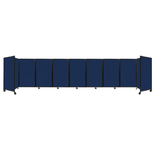 Room Divider 360 Folding Portable Partition 25' x 5' Navy Blue Fabric