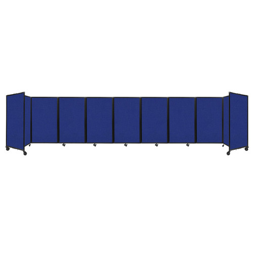 Room Divider 360 Folding Portable Partition 25' x 5' Royal Blue Fabric