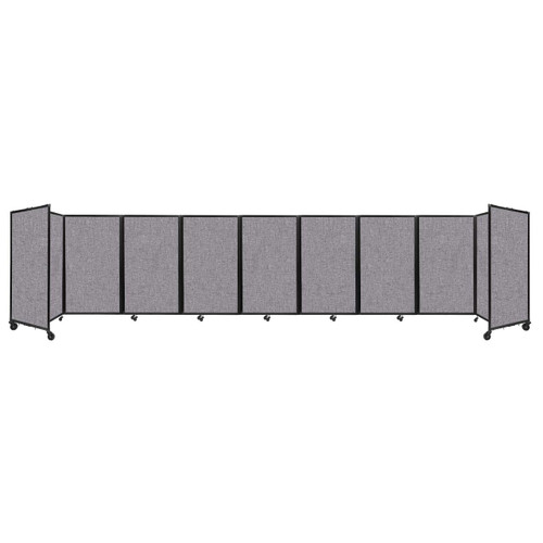 Room Divider 360 Folding Portable Partition 25' x 5' Cloud Gray Fabric