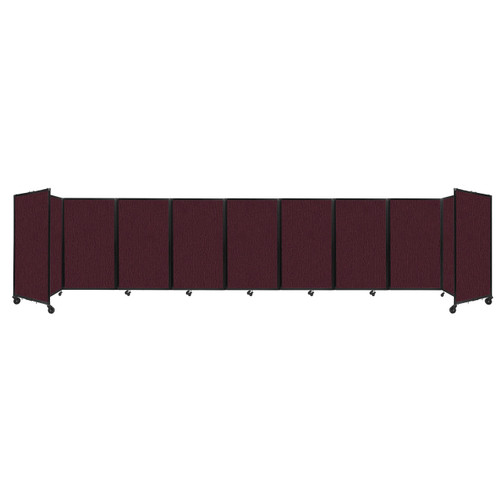 Room Divider 360 Folding Portable Partition 25' x 5' Cranberry Fabric