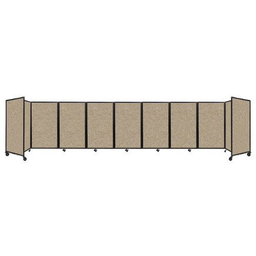 Room Divider 360 Folding Portable Partition 25' x 5' Rye Fabric