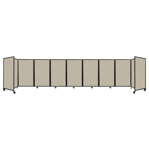 Room Divider 360 Folding Portable Partition 25' x 5' Sand Fabric