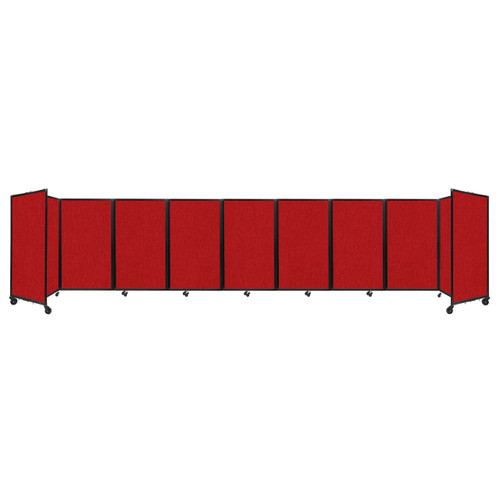 Room Divider 360 Folding Portable Partition 25' x 5' Red Fabric