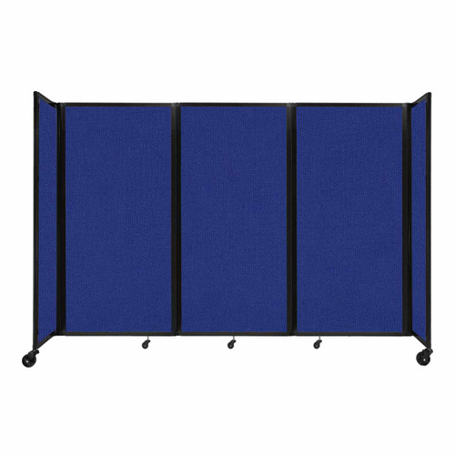 """Room Divider 360 Folding Portable Partition 8'6"""" x 6' Royal Blue Fabric"""