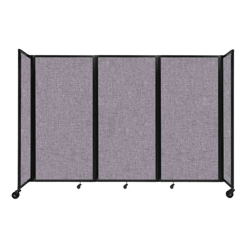 """Room Divider 360 Folding Portable Partition 8'6"""" x 6' Cloud Gray Fabric"""