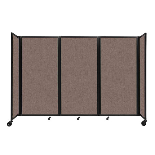 """Room Divider 360 Folding Portable Partition 8'6"""" x 6' Latte Fabric"""
