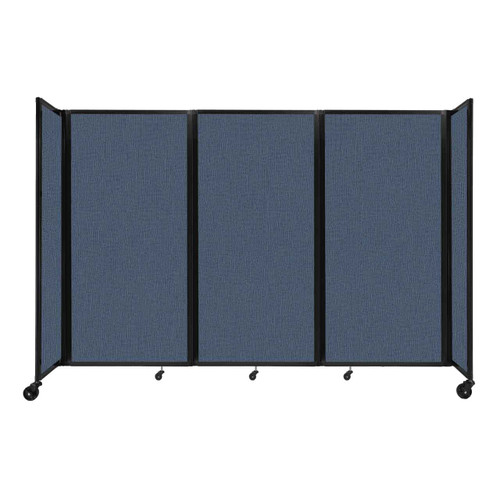 """Room Divider 360 Folding Portable Partition 8'6"""" x 6' Ocean Fabric"""