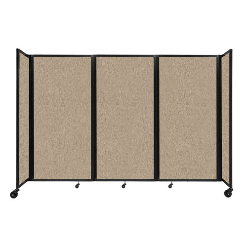 """Room Divider 360 Folding Portable Partition 8'6"""" x 6' Rye Fabric"""