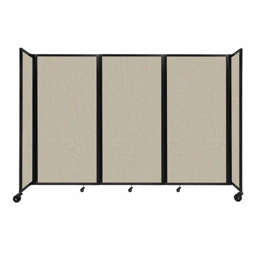 """Room Divider 360 Folding Portable Partition 8'6"""" x 6' Sand Fabric"""