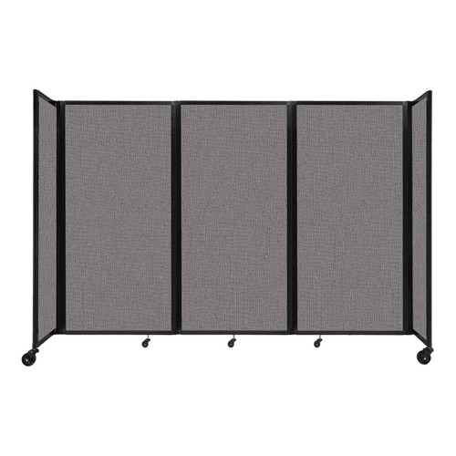 """Room Divider 360 Folding Portable Partition 8'6"""" x 6' Slate Fabric"""