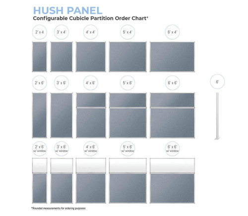 Order chart for the Hush Panels and post