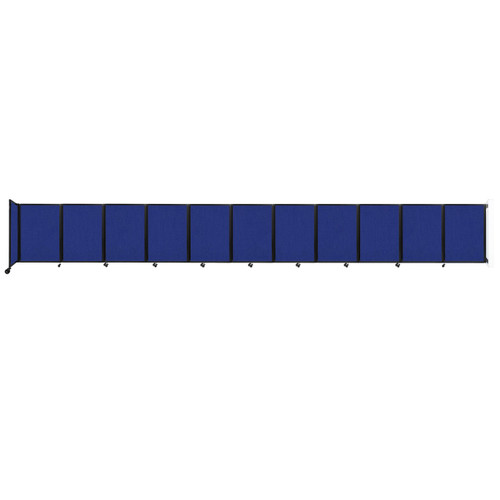 """Wall-Mounted Room Divider 360 Folding Partition 30'6"""" x 4' Royal Blue Fabric"""