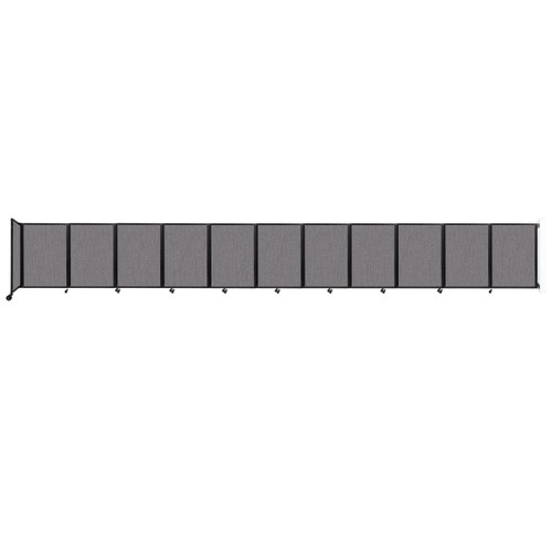 """Wall-Mounted Room Divider 360 Folding Partition 30'6"""" x 4' Slate Fabric"""