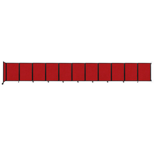 """Wall-Mounted Room Divider 360 Folding Partition 30'6"""" x 4' Red Fabric"""