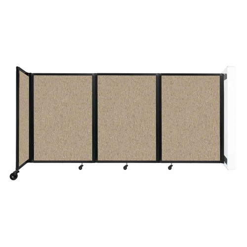 """Wall-Mounted Room Divider 360 Folding Partition 8'6"""" x 4' Rye Fabric"""