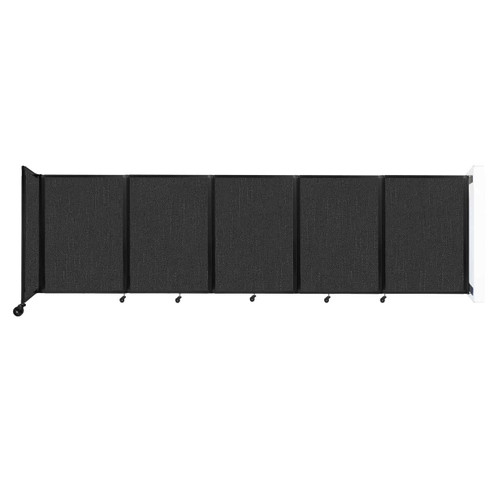 Wall-Mounted Room Divider 360 Folding Partition 14' x 4' Black Fabric