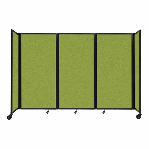 """Room Divider 360 Folding Portable Partition 8'6"""" x 6' Lime Green Fabric"""