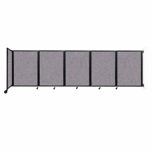 Wall-Mounted Room Divider 360 Folding Partition 14' x 4' Cloud Gray Fabric