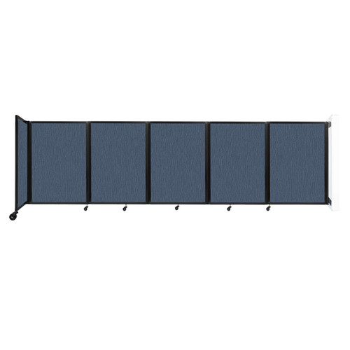 Wall-Mounted Room Divider 360 Folding Partition 14' x 4' Ocean Fabric
