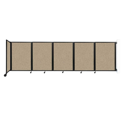 Wall-Mounted Room Divider 360 Folding Partition 14' x 4' Rye Fabric