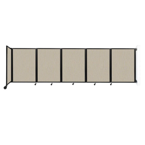 Wall-Mounted Room Divider 360 Folding Partition 14' x 4' Sand Fabric