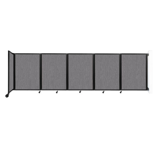Wall-Mounted Room Divider 360 Folding Partition 14' x 4' Slate Fabric