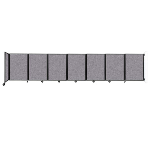 """Wall-Mounted Room Divider 360 Folding Partition 19'6"""" x 4' Cloud Gray Fabric"""