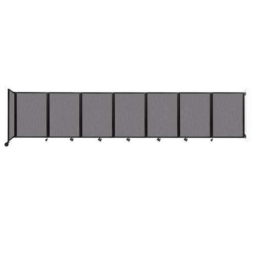 """Wall-Mounted Room Divider 360 Folding Partition 19'6"""" x 4' Slate Fabric"""