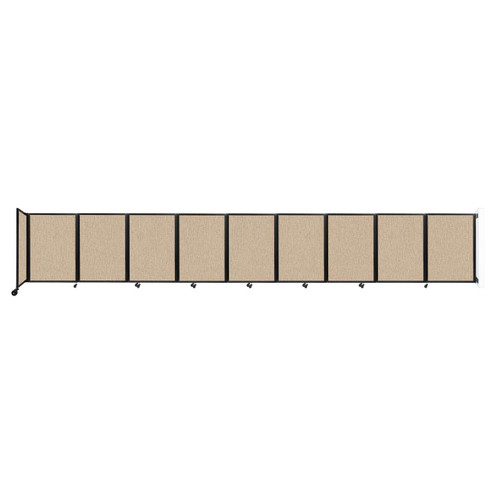 Wall-Mounted Room Divider 360 Folding Partition 25' x 4' Beige Fabric