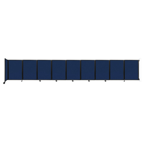 Wall-Mounted Room Divider 360 Folding Partition 25' x 4' Navy Blue Fabric