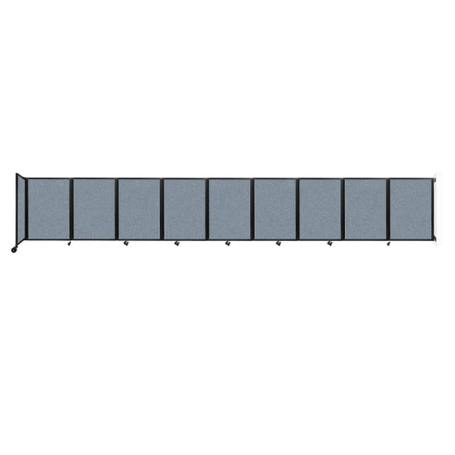Wall-Mounted Room Divider 360 Folding Partition 25' x 4' Powder Blue Fabric