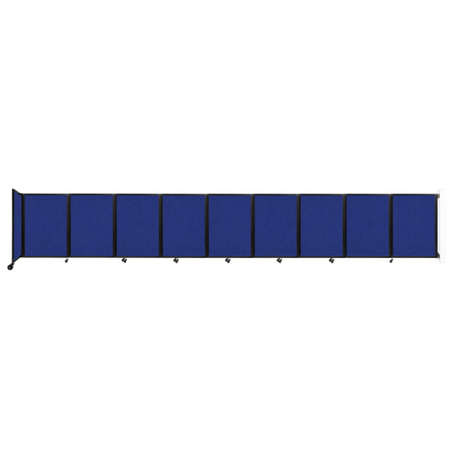 Wall-Mounted Room Divider 360 Folding Partition 25' x 4' Royal Blue Fabric