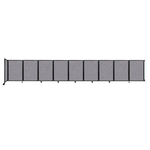 Wall-Mounted Room Divider 360 Folding Partition 25' x 4' Cloud Gray Fabric