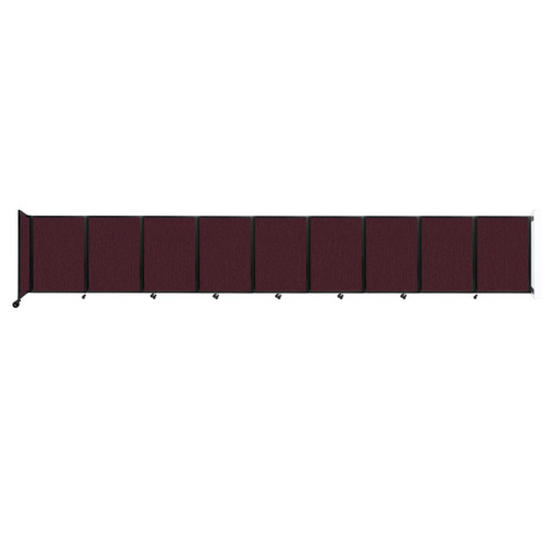 Wall-Mounted Room Divider 360 Folding Partition 25' x 4' Cranberry Fabric