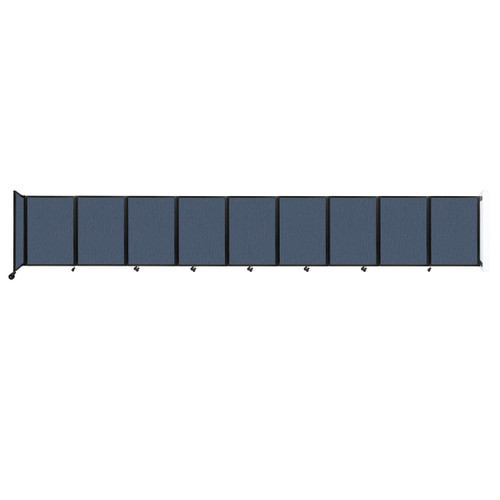 Wall-Mounted Room Divider 360 Folding Partition 25' x 4' Ocean Fabric