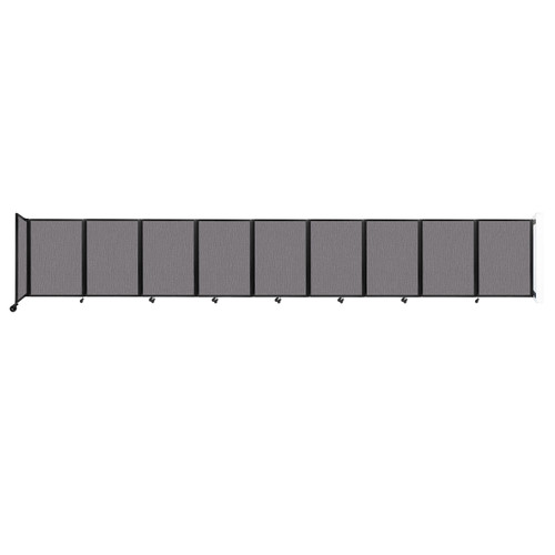 Wall-Mounted Room Divider 360 Folding Partition 25' x 4' Slate Fabric