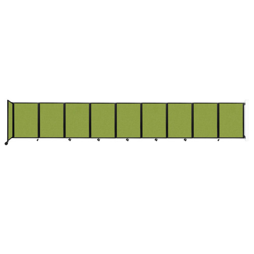 Wall-Mounted Room Divider 360 Folding Partition 25' x 4' Lime Green Fabric