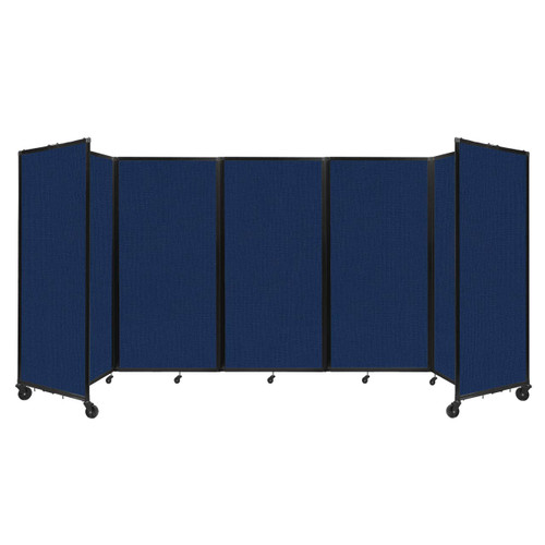 Room Divider 360 Folding Portable Partition 14' x 6' Navy Blue Fabric